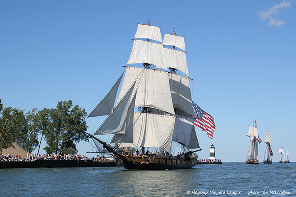 Tall Ships Parade of Sail; Photo Credit Tim McLaughlin, Courtesy of Visit Erie